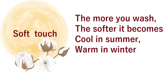 The more you wash, The softer it becomes Cool in summer, Warm in winter