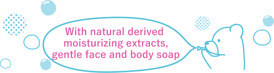With natural derived moisturizing extracts,Gentle face and body soap